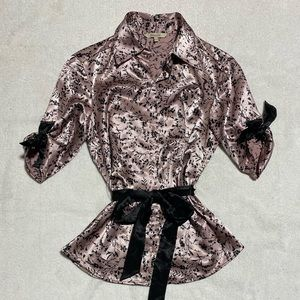 RW&Co Pink and Black Blouse